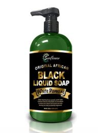 Sunflower Black Liquid Soap White Diamond - 12 Oz