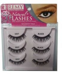 Response Remy Natural+Lashes Triple Pack 101 Black - #0101T
