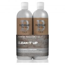 TIGI B For Men Clean Up Tween Duo 2 x 750ml
