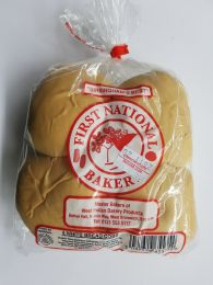 First National Bakery White Bread Cobs (4 Pack)