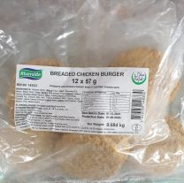 Riverside Breaded Chicken Burger (12x57g) 0.684kg
