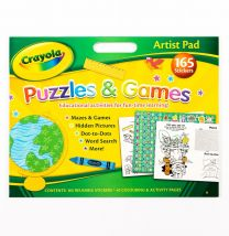 Crayola A3 Size Junior Artist Sketch Pad - Includes Over 150 Reusable Stickers!
