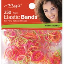 Magic Collection 250 Neon Elastic Bands - ITEM #332NEO