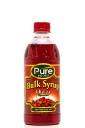 SYRUP CHERRY PURE FOODS BULK CHERRY FLAVOUR 1LT