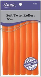 Annie Soft Twist Rollers, Orange, 7 Inch, 12 Count - 1262