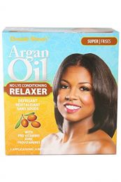 Double Sheen Argan Oil No Lye Conditioning Relaxer - Super