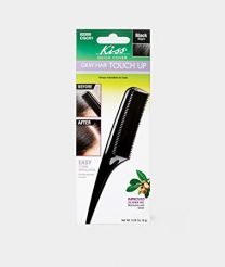 Kiss Colours Quick Cover Grey Hair Touch Up Comb - Black