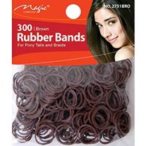 Magic Collection 300 Brown Rubber Bands