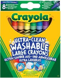 Crayola Ultra Clean Crayons Washable, Pack of 8, Multi-Coloured