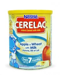 Nestle Cerelac Infant Cereal with Milk Apple & Wheat with Milk - 400g