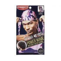 RED by KISS Power Wave Military Satin Durag (PURPLE) - HDUPPMO4