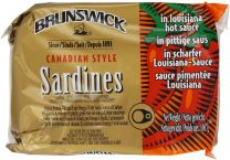Brunswick Canadian Style Sardines in Louisiana Hot Sauce