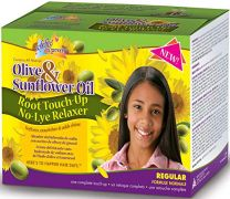 Sofn'free N' Pretty Olive & Sunflower Oil Root Touch Up Relaxer Kit - Regular