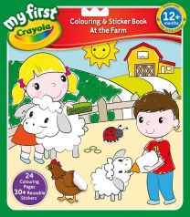 My First Crayola Colouring and Sticker Book, Multicoloured
