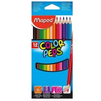 Color'Peps Triangular Colored Pencils, 12 Pieces
