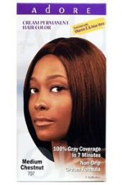 Adore Cream Permanent Hair Colour #707 Medium Chestnut