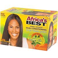 Africa's Best Extra Virgin Olive Oil Herbal Intensive Dual Conditioning No-Lye Relaxer System - Super