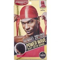 Red by Kiss Wave Cap Power Wave Silky Satin Durag - Pink HDUPP06