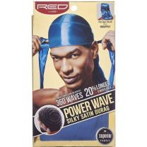 Red by Kiss Wave Cap Power Wave Silky Satin Durag - Blue HDUPP07