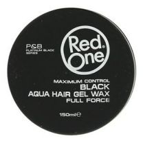 Red One Maximum Control BLACK Aqua Hair Gel Wax Full Force - 150ml