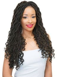 """Janet Collection 2 X Mambo Wave Bohemian Locs 18"""""""
