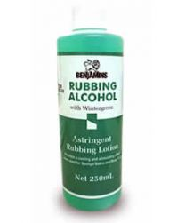 Benjamins Rubbing Alcohol Astringent Rubbing Lotion with Wintergreen 250ml