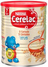 Nestle Cerelac - 5 Cereals with Milk Infant Cereal 400g, 7months+