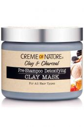 Creme of Nature Clay & Charcoal Pre Shampoo Detoxifying Clay Mask - 11.5 Oz