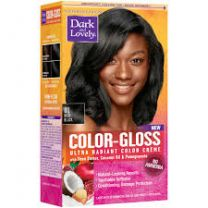 SoftSheen-Carson Dark and Lovely Color-Gloss Ultra Radiant Color Crème - Rich Black 01