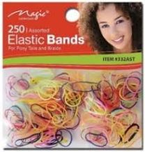 Magic Collection 250 Assorted Elastic Bands - #332AST