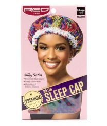 Red by Kiss Satin Sleep Cap Floral - X Large