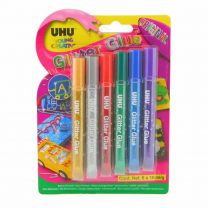UHU 3-39017 6 x 10 ml Original YC Glitter Glue