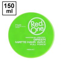 Red One Maximum Control GREEN Matte Hair Wax Full Force - 150ml