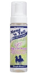 Mane N Tail Herbal Gro Wrap N Set Mousse 6.76 oz