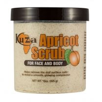 Kuza Face & Body Apricot Scrub - 15 Oz
