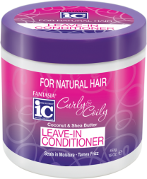 Fantasia IC Curly & Coily Coconut & Shea Butter Leave In Conditioner - 16 Oz