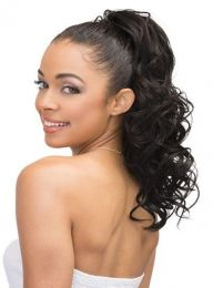 Janet Collection Synthetic Drawstring Ponytail - LYCHEE