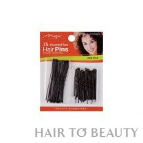 Magic Collection Assorted Size Hair Pins With Ball Tip Black #724