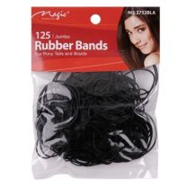 Magic Collection 125 Jumbo Black Rubber Bands