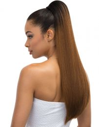 Janet Collection Synthetic Drawstring Ponytail - PEACH