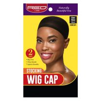 Red by Kiss Stocking Wig Cap Black 2 Pack - HWC01