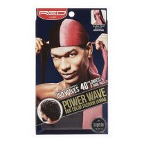 Red by Kiss Power Wave Duo Colour Fashion Durag - Black Pink HDUPPD02