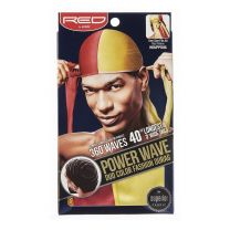 Red by Kiss Power Wave Duo Colour Fashion Durag - Red Yellow HDUPPD06