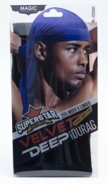Magic Superstar Premium Fabric Velvet Deep Wave Durag Navy