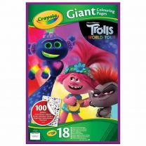 Crayola Trolls World Tour 18 Giant Colouring Pages with Stickers 49cm x 32cm