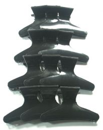 Belle 12 Black Butterfly Clamps