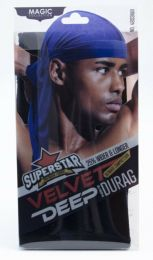 Magic Collection Velvet Deep Wave Durag ROYAL BLUE - No.4803ROY
