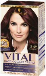 Schwarzkopf Vital Colours 5-69 Mahogany Red Permanent Hair Colouring Dye