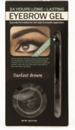 Matte Waterproof 24hour Eyebrow Gel - Darkest Brown - 0.11 Oz