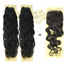 "2 x 14"" Rush Brazilian Temptation + FREE 4 x 4 12"" Closure- Natural Wave"